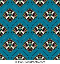 seamless paisley ornament pattern
