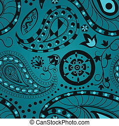 Seamless paisley pattern for your background design
