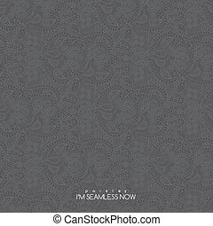 Seamless paisley pattern - Vector seamless vintage grey...