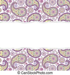 seamless paisley pattern with torn paper