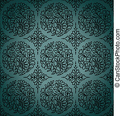Seamless paisley vector wallpaper