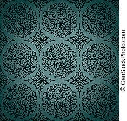 Seamless paisley vector wallpaper