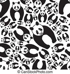 seamless panda pattern