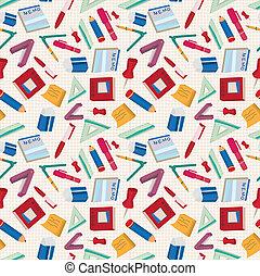 seamless, papelaria, padrão