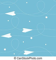 Seamless paper airplane background