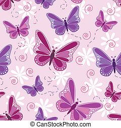 seamless, papillon, modèle