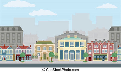 Seamless Parallax Scrolling Loop Background Street - A ...