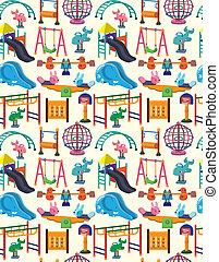 seamless park playground pattern