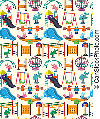 seamless park playground pattern - seamless park playground...