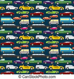 seamless., passagier, achtergrond, auto