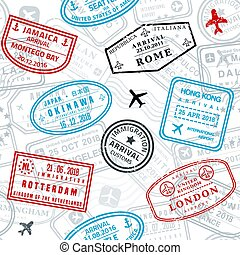 Seamless passport stamps