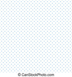 Seamless Pastel Blue Dots on White - Seamless pattern, small...