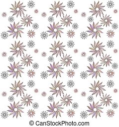 Seamless pastel colored floral pattern in a zentangle style