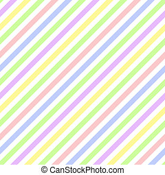 Pastel diagonal stripes on white