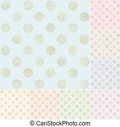 seamless pastel polka dots pattern