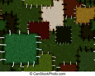 Seamless background with colored patches