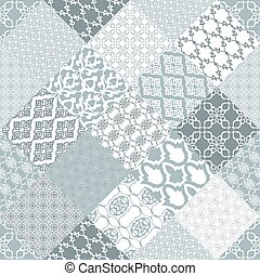 Seamless patchwork background.