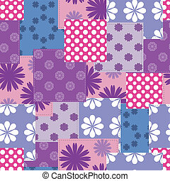 seamless patchwork background vector illustration