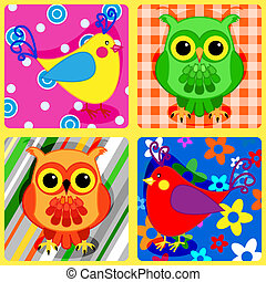 Seamless patchwork birds-2