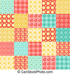 Seamless patchwork pattern 2.