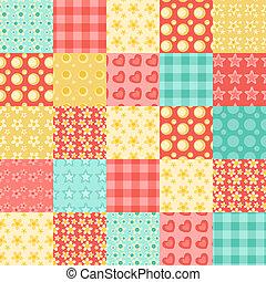 Seamless patchwork pattern 2.