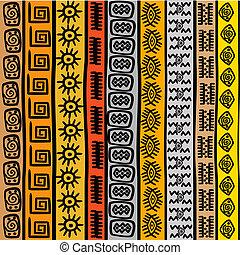 seamless, patrón, con, étnico, africano, motivos