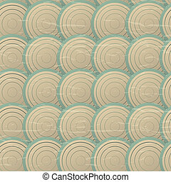 seamless, patrón, con, círculos