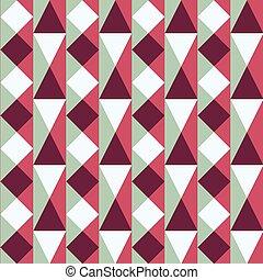 seamless, patrón, con, cuadrados, y, triángulos