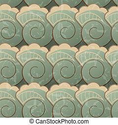 seamless, patrón, con, espirales