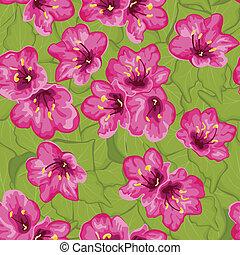 seamless, patrón, con, flores, ornamento, patrón
