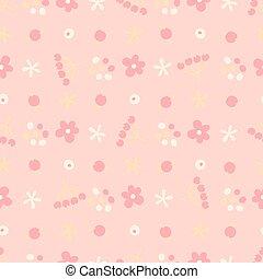 seamless, patrón, con, pequeño, flores, y, berries.