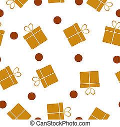 seamless, patrón, con, regalos