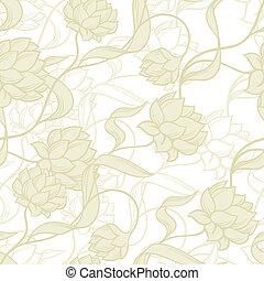 seamless, patrón, con, resumen, flowers.