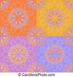 seamless, patrón, en, islámico, estilo