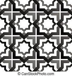 seamless, patrón, en, islámico, style.