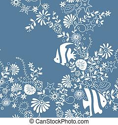 seamless, patrón floral, 1