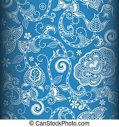 seamless, patrón floral, 4