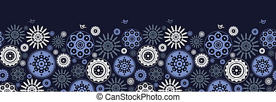 seamless, patrón floral, con, caricatura, aves