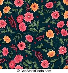 seamless, patrón floral