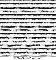 seamless, patrón, lines., pintura, vector, cepillo, fondo., rayado