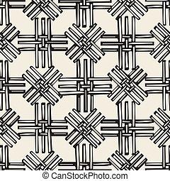 seamless, patrón, plano de fondo, monocromo, cestería