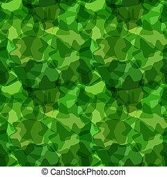 seamless, patrón, verde, camuflaje