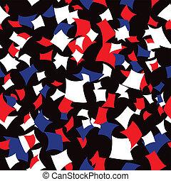 Seamless Patriotic Confetti Pattern