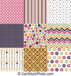 seamless, patrones, tela, textura