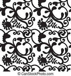 seamless patroon abstract floral - naadloos achtergrond...