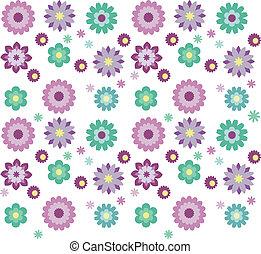 seamless, patten, kwiat