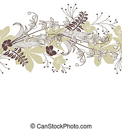 Seamless patten with forest flowers and plants