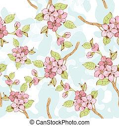 seamless, pattern?, ブランチ, sakura