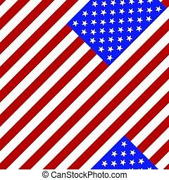 seamless, pattern., 旗, ......的, the, usa.