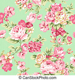 Seamless pattern 1309 - Traditional classic rose seamless...